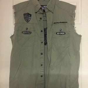 Men's sleeveless Harley-Davidson denim shirt